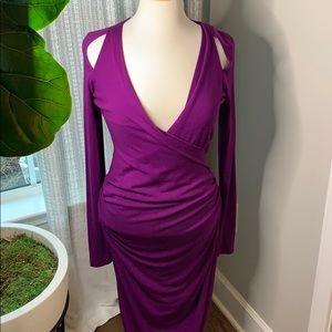Donna Karan jersey dress 6 fits 8 very deep v